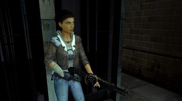Half-life 2 Episode One Alyx Vance shotgun Аликс Вэнс с дробовиком